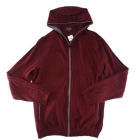 Red  ファッション トップス Tasso Elba Mens Sweater Port Red Size XL Ribbed Hooded Full-Zip Knit