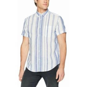 Calvin Klein カルバンクライン ファッション アウター Calvin Klein Jeans Mens Shirt Blue Size Small S Stripe Pocket Button Up