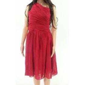 Red  ファッション ドレス Designer Brand NEW Red Wine Womens Size XL Chiffon Pleated A-Line Dress