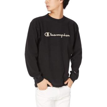 [チャンピオン] リバースウィーブ ロングスリーブTシャツ C3-Q417 メンズ オフブラック 日本 L (日本サイズL相当)