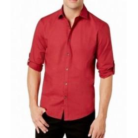 Alfani  ファッション アウター Alfani NEW Tango Red Mens Size 2XL Button Down Long-Sleeve Shirt