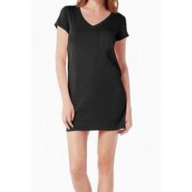 Michael Stars マイケルスターズ ファッション ドレス Michael Stars Womens Black Shirt Dress Small S Chest Pocket T-Shirt