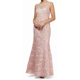 Pearl  ファッション ドレス SLNY NEW Pink Soutache Mesh Imitation Pearl 12 Mermaid Gown Dress