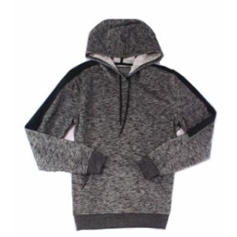 Mark  ファッション トップス Brooklyn Mens Gray Size Small S Drawstring Hooded Mark Knit Sweater