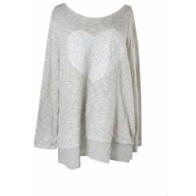 ファッション トップス Style & Co Ivory Lace-Heart Sheer-Hem Sweater XL