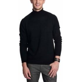 ファッション トップス State Cashmere Mens Black Size 2XL Turtleneck Cashmere Sweater