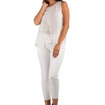 ファッション パンツ S & P Standard Practices NEW Ivory Crop Women 32X23 Stretch Skinny Jean