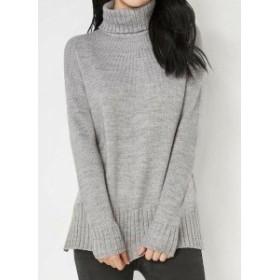 ファッション トップス Joe Fresh Womens Sweater Gray Size Medium M Turtleneck Knit Mock Neck