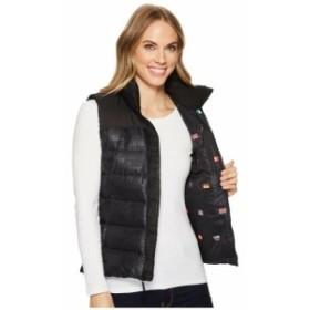North Face ノースフェイス ファッション 衣類 New Womens NORTH FACE IC Nuptse Vest NF0A3BZF1TU - Black Flag Print