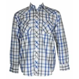 western ウェスタン ファッション アウター DBFL Liquid West Mens Long Sleeve Western Snap Front Plaid Shirt