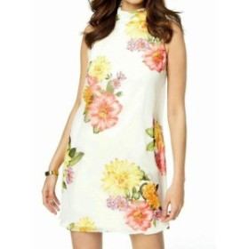 Jessica Howard ジェシカハワード ファッション ドレス Jessica Howard NEW White Womens Size 14 Floral Mock Neck Shift Dress