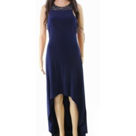 Ball ボール ファッション ドレス Laundry By Shelli Segal NEW Blue Embellished Hi-Low Hem 4 Ball Gown