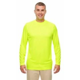 ファッション トップス UltraClub Mens Cool & Dry Performance Long-Sleeve T-Shirt 8622 S-4XL