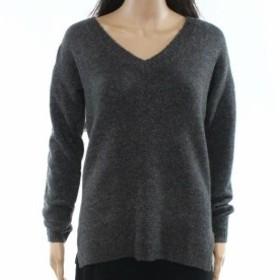 ファッション トップス Fat Face NEW Deep Gray Womens Size 2 UK 6 V-Neck Glitter Solid Sweater