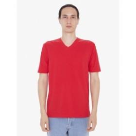 American  ファッション トップス American Apparel Mens Fine Jersey Short-Sleeve Classic V-Neck 24321 S-2XL