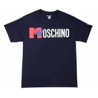Champion チャンピオン ファッション トップス FTW Worldwide x Champion Music Box Moschino MTV Short Sleeve Navy Yellow Red NWT