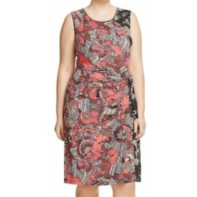 Tribal  ファッション ドレス Nic + Zoe NEW Red Tribal Tropical Print Womens 3X Plus Sheath Dress