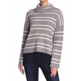 ファッション トップス Abound NEW Gray Pink Womens Size Small S Cowl Neck Striped Sweater