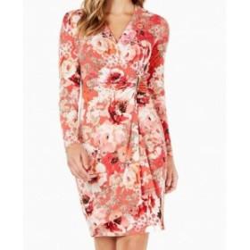 Calvin Klein カルバンクライン ファッション ドレス Calvin Klein Womens Sheath Dress Orange 6P Petite Floral Print Surplice
