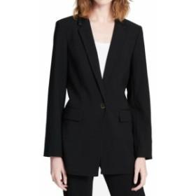 Blazer ブレザー ファッション フォーマル Calvin Klein NEW Black Womens Size 6P Petite Singe Button Blazer
