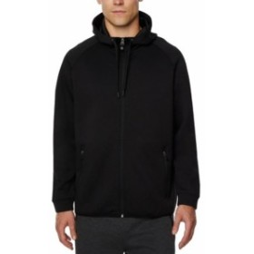 ファッション トップス 32 Degrees HEAT NEW Black Mens XL Full Zip Performance Hooded Sweater