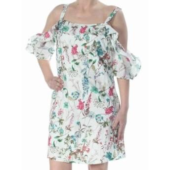 Sanctuary サンクチュアリ ファッション ドレス Sanctuary Womens Dress White Size XS Shift Floral Print Ruffled