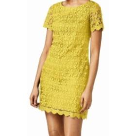 Jessica Howard ジェシカハワード ファッション ドレス Jessica Howard Womens Dress Sunshine Yellow Size 12 Sheath Crochet