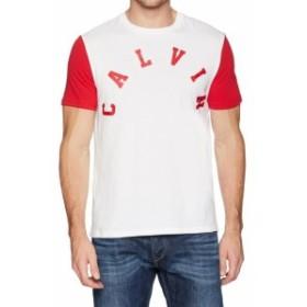 Calvin Klein カルバンクライン ファッション トップス Calvin Klein NEW White Red Mens Size XL Graphic Print Tee T-Shirt