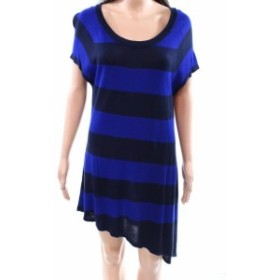 taylor テイラー ファッション ドレス Taylor NEW Blue Womens Size 8 Asymmetrical Stripe Knit Sweater Dress
