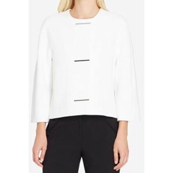 Blazer ブレザー ファッション 衣類 Tahari By ASL NEW White Ivory Women 8P Petite Hardware Blazer Jacket
