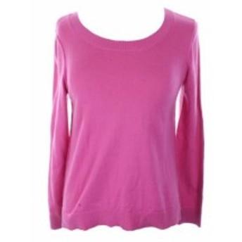 ファッション トップス Inc International Concepts Pink Long Sleeve High-Low Crew Neck Sweater M