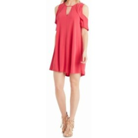Jessica Simpson ジェシカシンプソン ファッション ドレス Jessica Simpson NEW Pink Womens Size Small S Cold Shoulder Shift Dress