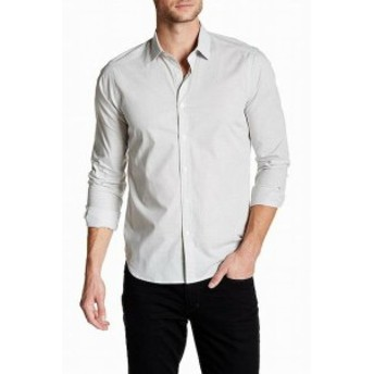 ファッション アウター Jeff NEW Gray Mens Size XL Striped Tailored Fit Button Down Shirt