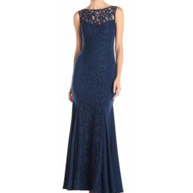Ball ボール ファッション ドレス JS Collections Blue Illusion Lace Womens 10 Mermaid Ball Gown Dress