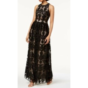 Betsy & Adam ベッツィアンドアダム ファッション ドレス Betsy & Adam NEW Black Women Size 0 Sequin Lace Illusion Sheath Dress