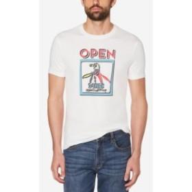 Original Penguin オリジナルペンギン ファッション トップス Original Penguin NEW White Mens Size XL Open Graphic Tee T-Shirt