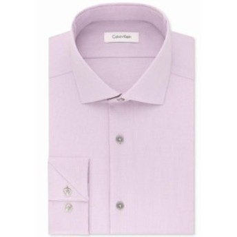 Calvin Klein カルバンクライン ファッション ドレス Calvin Klein NEW Purple Mens Size 17 1/2 Textured Slim Fit Dress Shirt