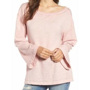 bell ベル ファッション トップス Treasure & Bond Womens Bell Sleeve Pink Small S Boat Neck Sweater