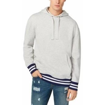 American  ファッション トップス American Rag Mens Sweater Heather Gray Size 2XL Fleece Pullover Hooded