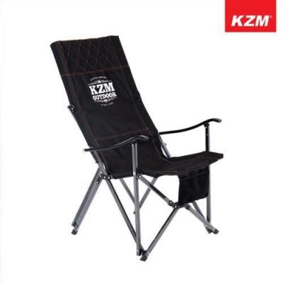 KAZMI K9T3C004BK 極簡時尚豪華休閒折疊椅 經典黑 K9T3C004BK