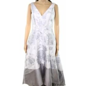 Betsy & Adam ベッツィアンドアダム ファッション ドレス Betsy & Adam NEW Gray Womens Size 2 Floral Printed Sheath Dress