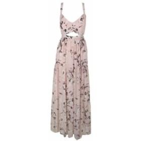 Rachel Roy レイチェルロイ ファッション ドレス Rachel Rachel Roy Pink Sleeveless Printed Cutout Maxi Dress 10
