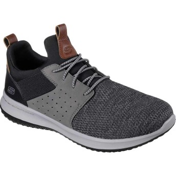 [スケッチャーズ] シューズ スニーカー Delson Camben Slip-On Sneaker Black/Gray メンズ [並行輸入品]