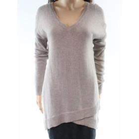 ファッション トップス Halogen NEW Beige Oatmeal Womens Size Small S V-Neck Wrap-Hem Sweater #713