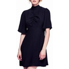 Free People フリーピープル ファッション ドレス Free People NEW Black Womens 4 Be My Baby Ruched Sleeve A-Line Dress