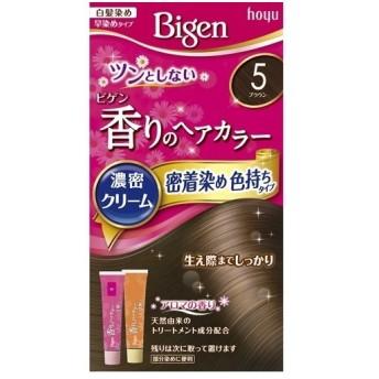 ビゲン 香りのへアカラー濃密クリーム 密着染め色持ちタイプ 5(ブラウン)