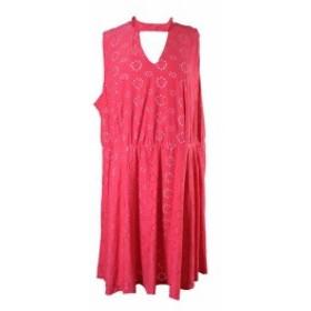 ファッション ドレス Ny collection large pink lock fit & flare dress
