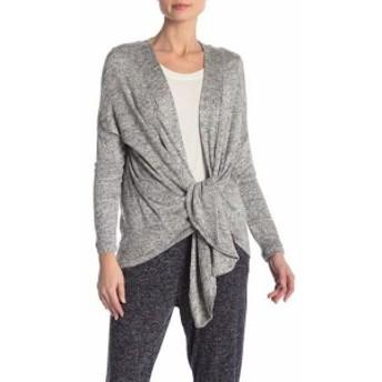Bobeau ボビュ ファッション トップス Bobeau Heather Gray Womens Size Small S Tie Front Cardigan Sweater