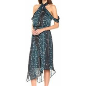 Rachel Roy レイチェルロイ ファッション ドレス Rachel Rachel Roy NEW Blue Womens Size 6 Draped Cold Shoulder Dress