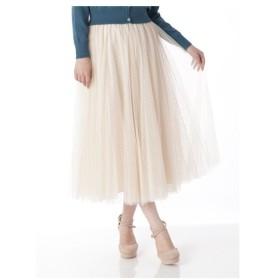 Cherite by PRIMEPATTERN(シェリエットバイプライムパターン)チュールロングスカート